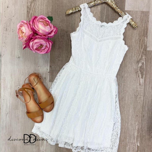 Edge Lace Trimmed Dress