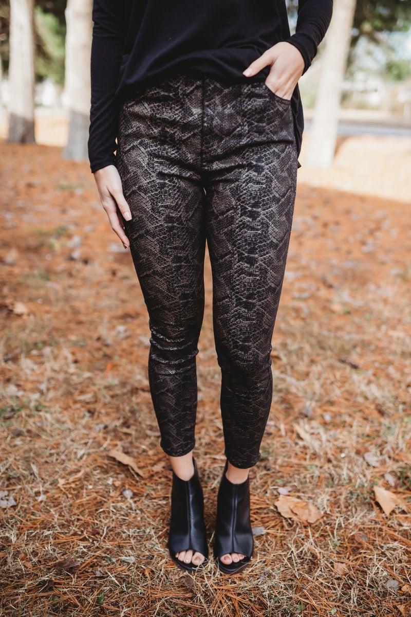 Snake Skin Print Jeans