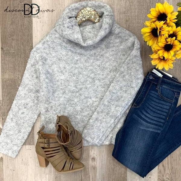 Haley Cow Neck Sweater