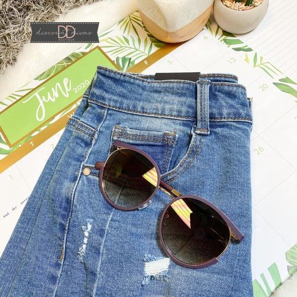 Purple Round Sunglasses