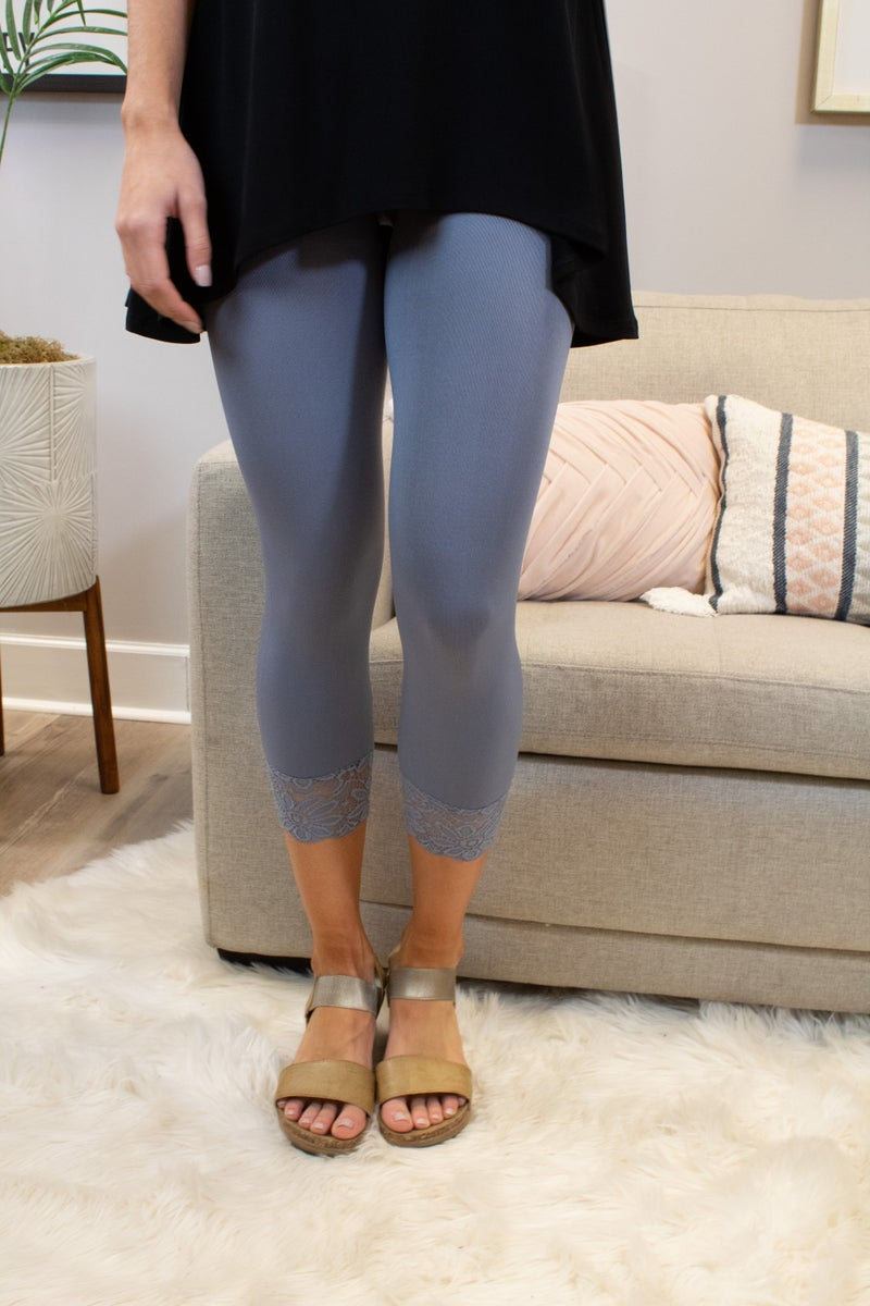 Leggings With Lace Detail