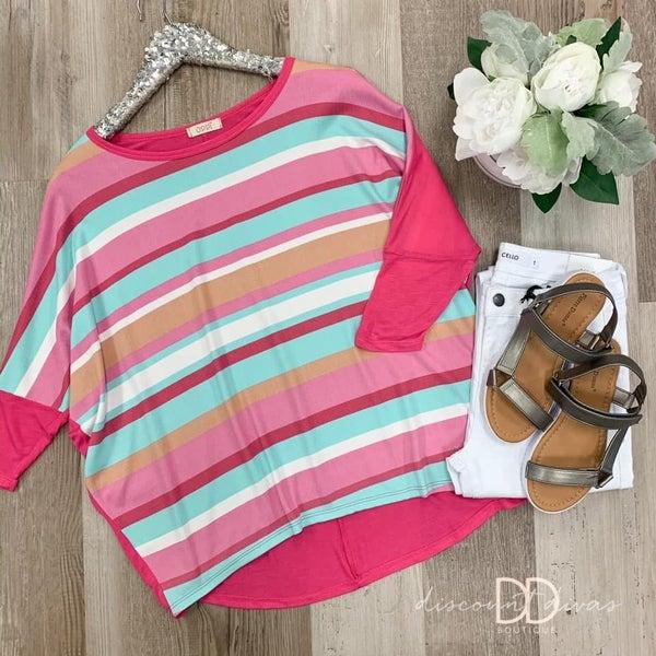 Multi-Colored Stripe Top