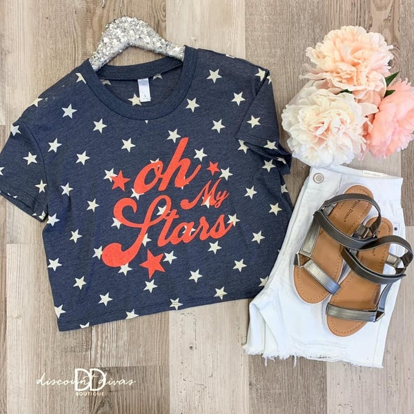 Oh My Stars Cropped Top
