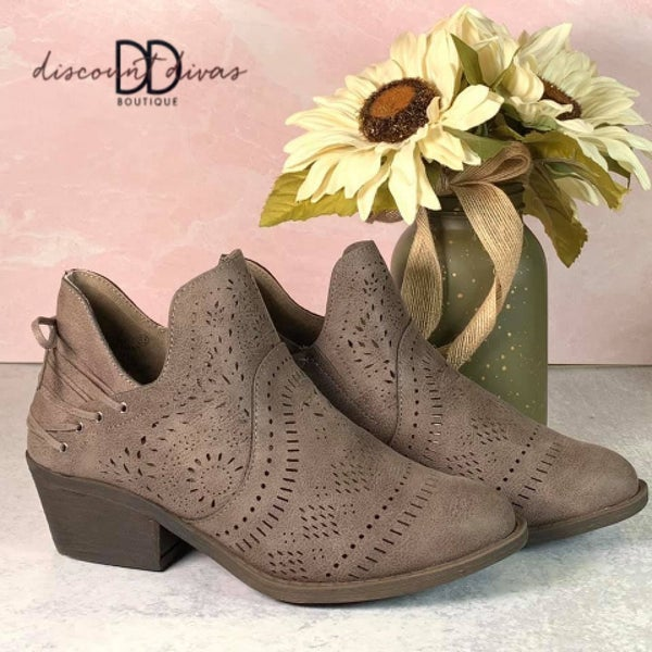 Perforated Ankle Bootie *Final Sale*
