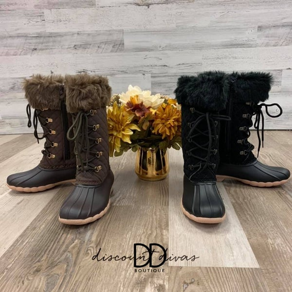 Tall Boots With Fur *Final Sale*