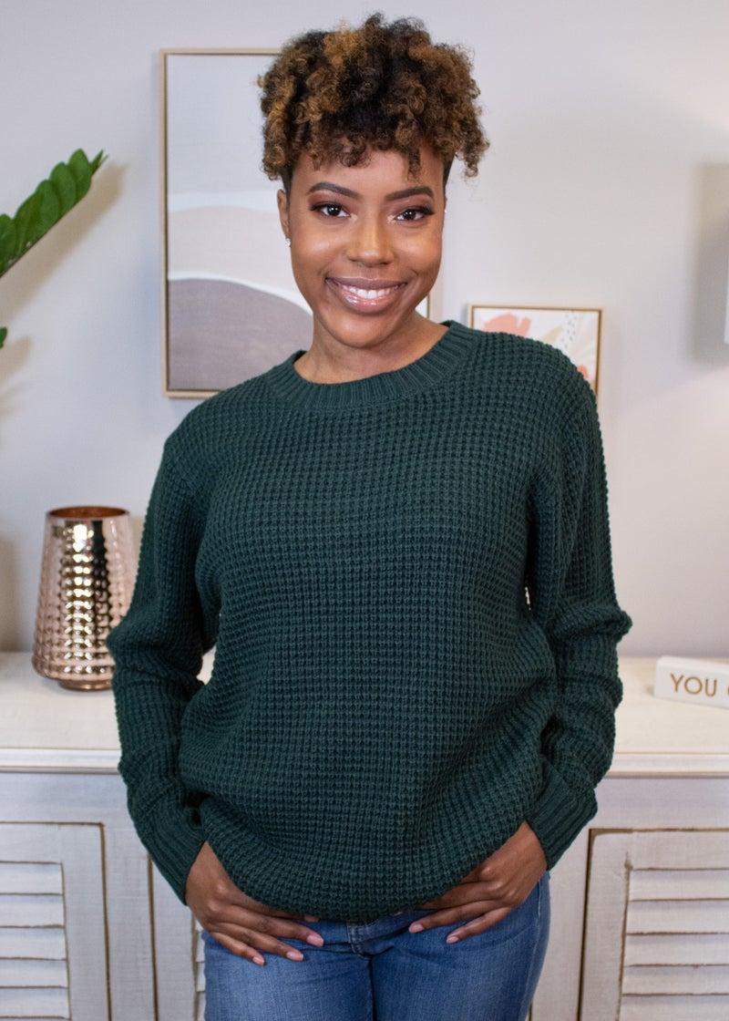 Pumpkin Waffle Sweater