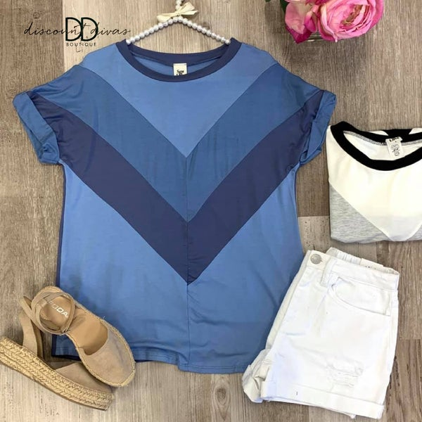 Never Be The Same Color Block Top