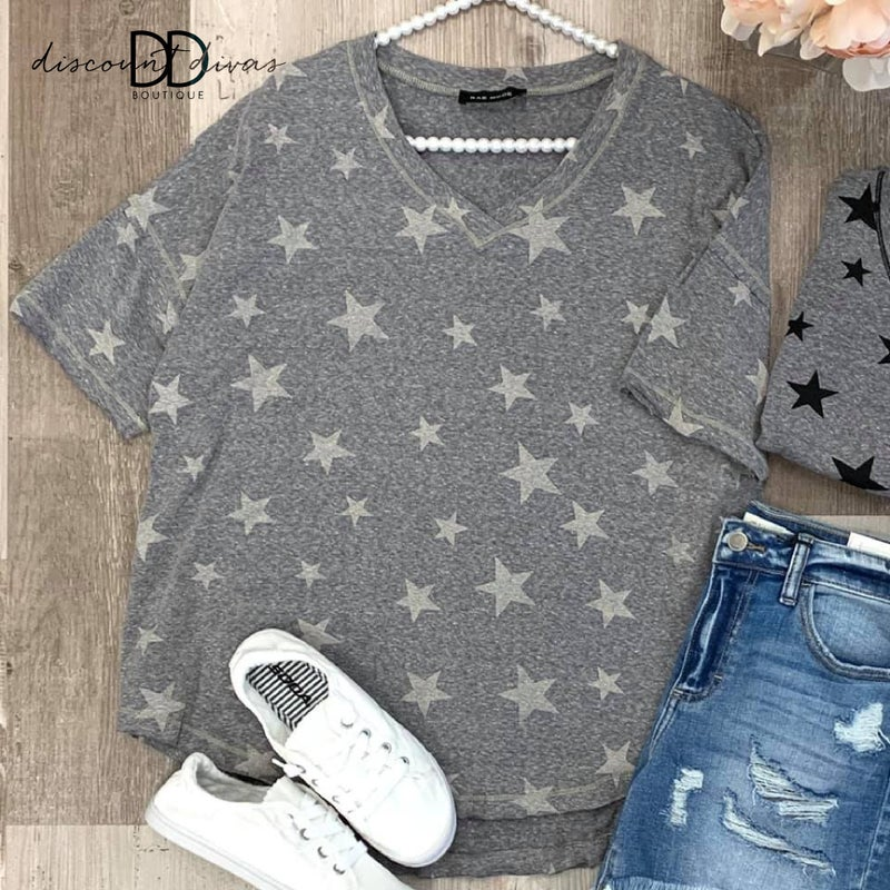 Ingrid Star Printed Top