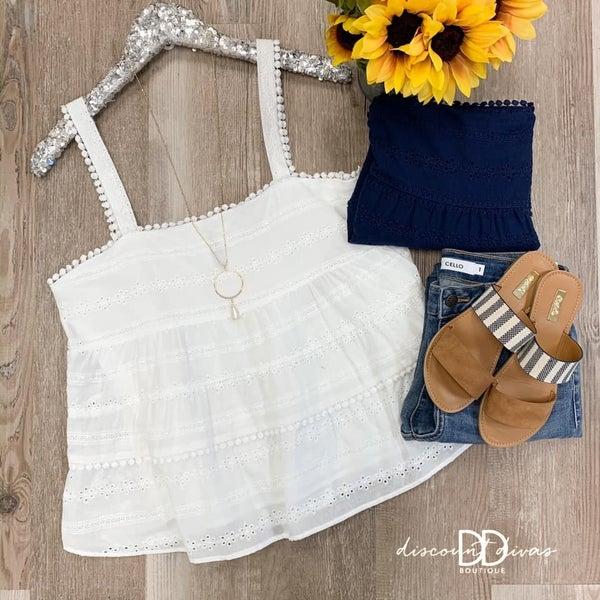 Sleeveless Crochet Top