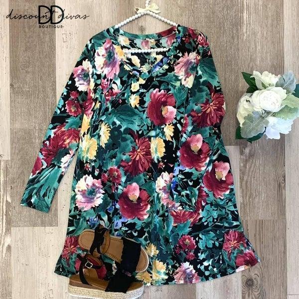 Date Night Floral Dress *Final Sale*