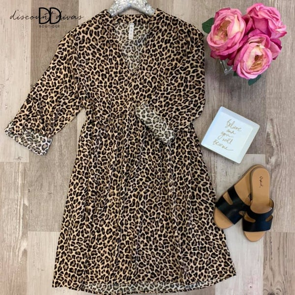 Breaking Rules Leopard Dress