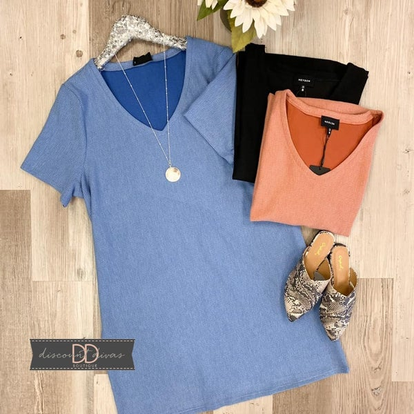 V-Neck Short Sleeve Dress