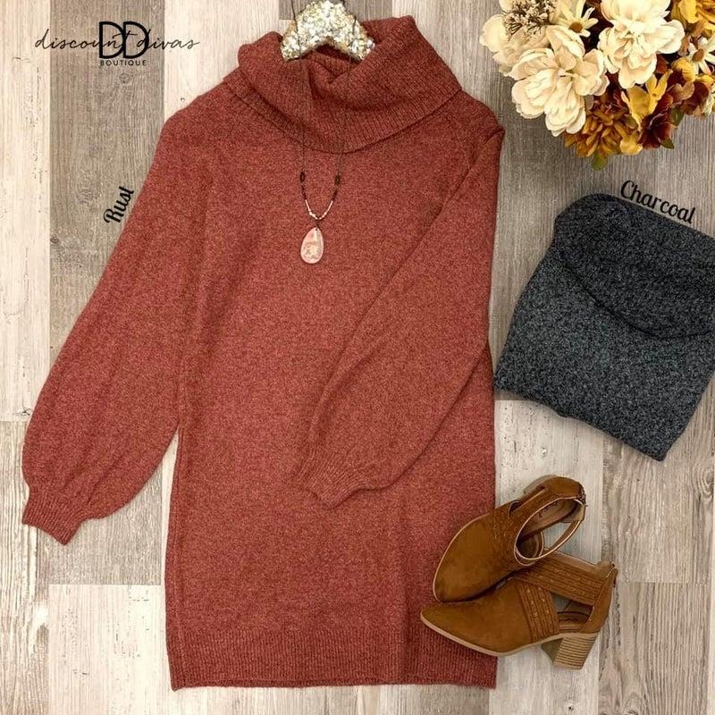 Fall Frenzy Sweater Dress