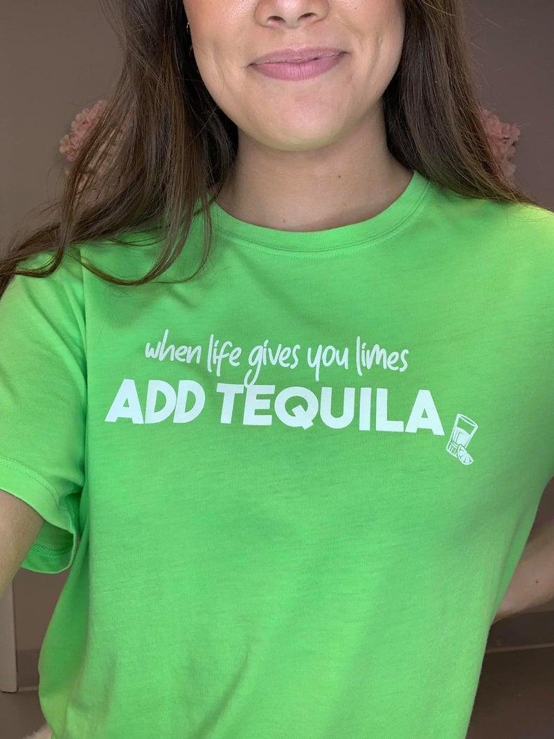 Add Tequila/Add Vodka Tees