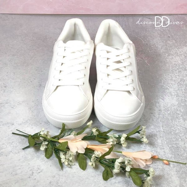 Low Top Laced Sneakers