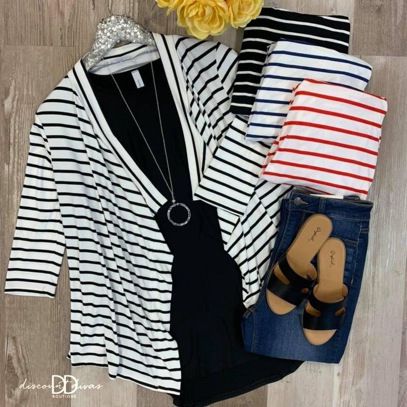 Roe Striped Cardigan