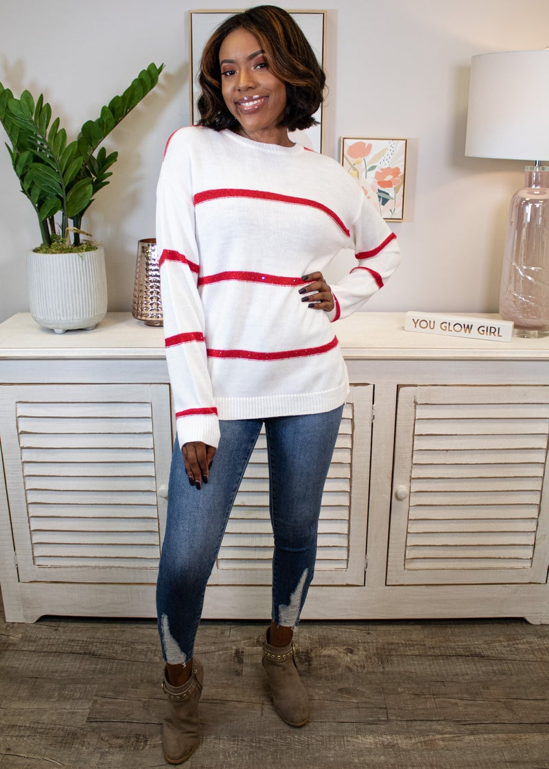 Peppermint Kisses Sweater