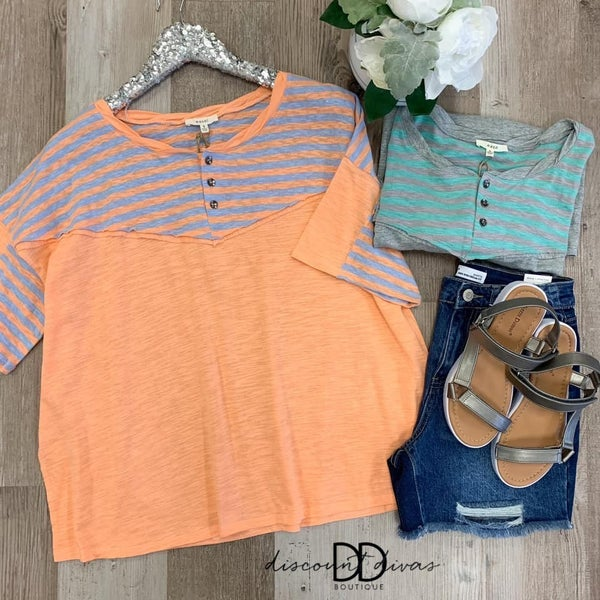 Button Front Boxy Top