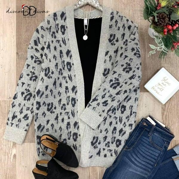 Long Sleeve Leopard Cardigan