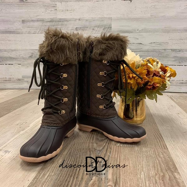 Tall Boots With Fur