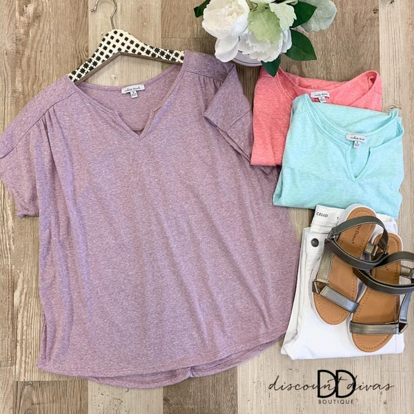 Short Sleeve Top With High-Low Hem