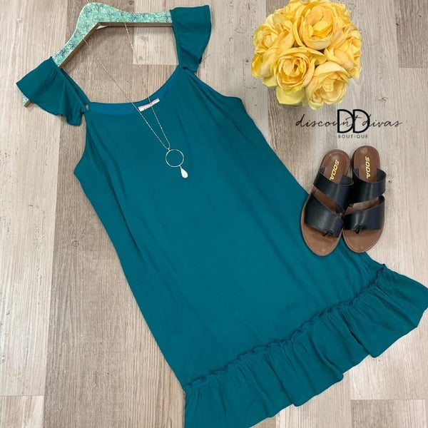 Cami Dress with Flutter Sleeves *Final Sale*