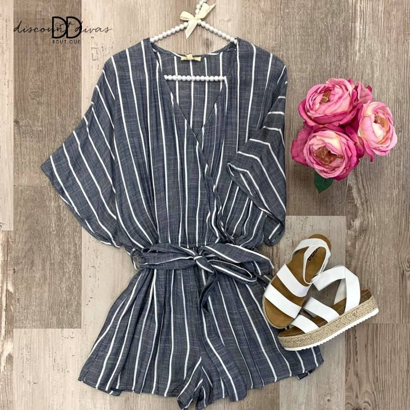 Shine In Stripes Romper