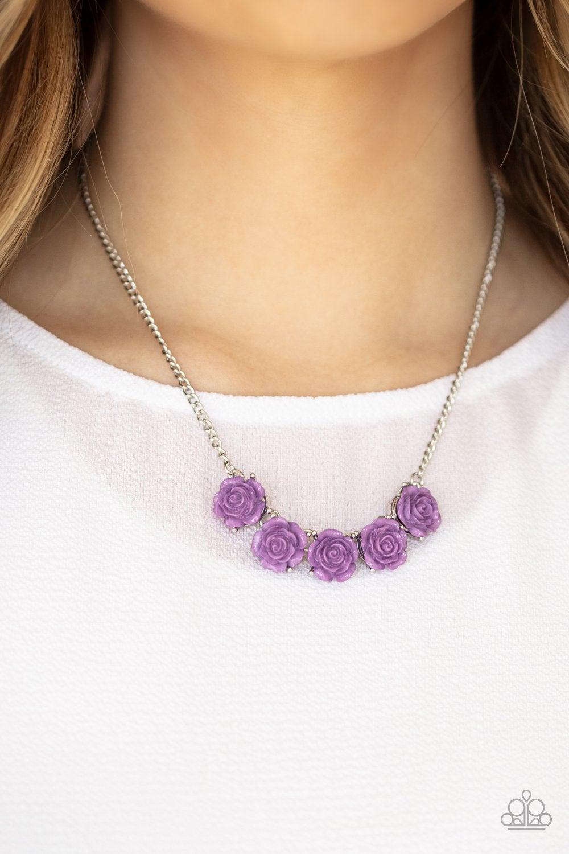 Purple rose necklace rose jewelry pendant #PL103P rose pendant purple flower pendant mom gift rose necklace purple rose pendant