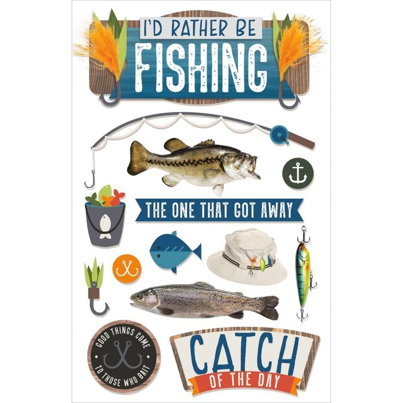 Be Fishing 3D Stickers