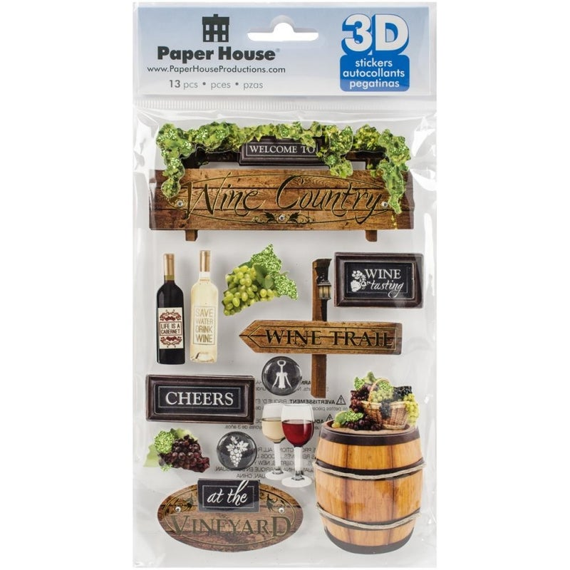 Wine Country 3D Stickers