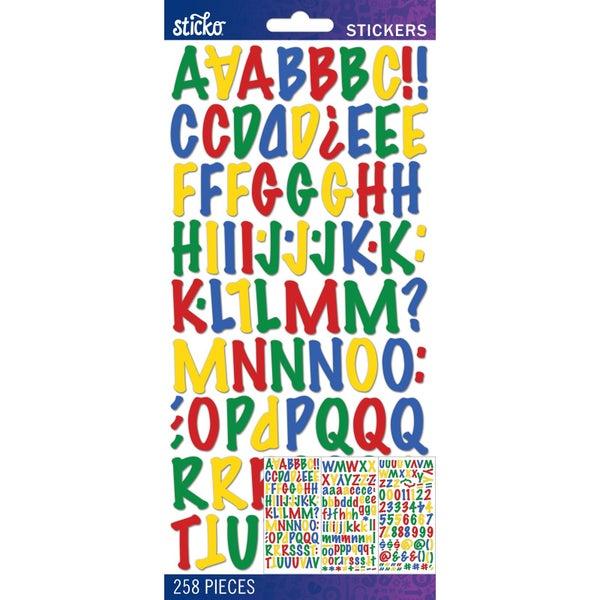Primary Marker Alphabet Stickers