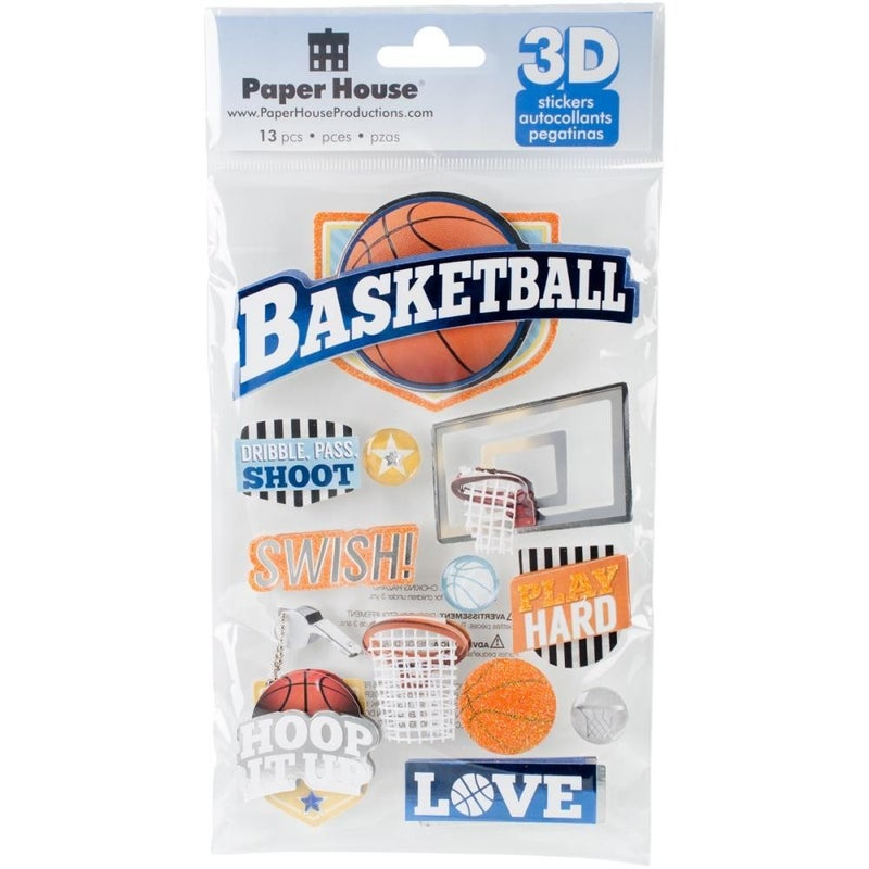 3D Basketball Stickers