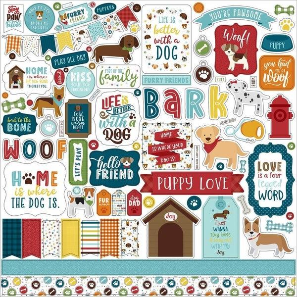 My Dog Pet 12x12 Sticker Sheet
