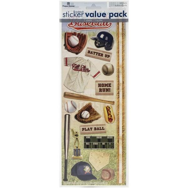 Baseball Cardstock 2 pack Stickers
