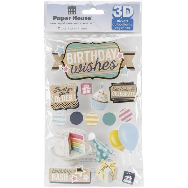3D Birthday Wishes Stickers
