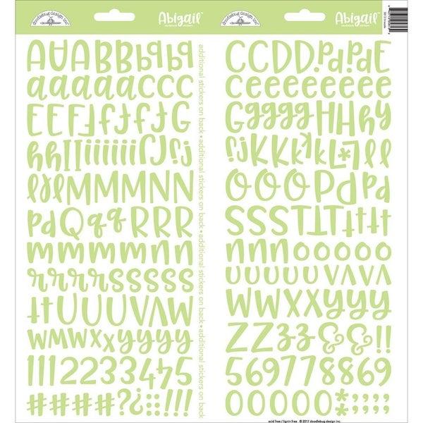 Abigail Alphabet Stickers -Limeade Green