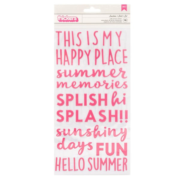 Sunshine Sun & Fun Phrase Thickers
