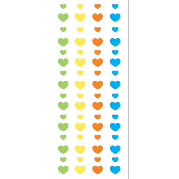 Shimmering Spring Hearts Stickers
