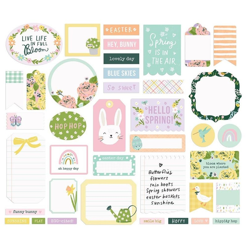 Bunnies & Blooms Journal Bits