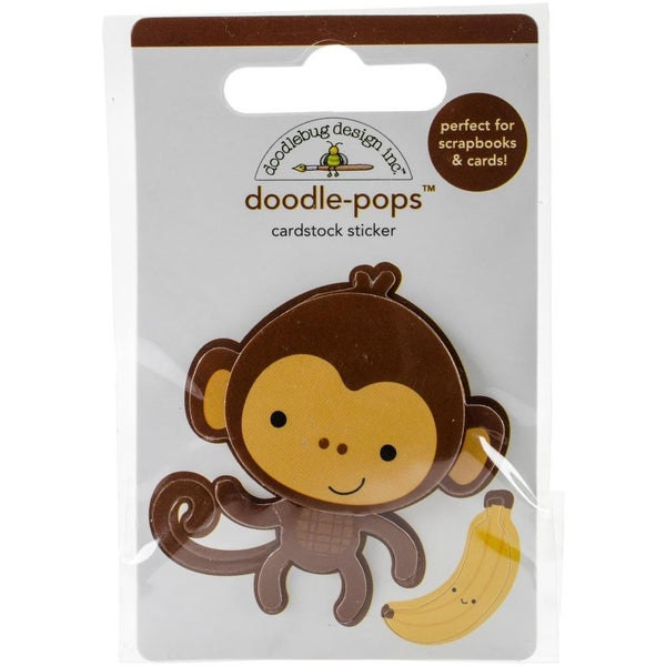 Doodle Pops 3D Sticker - Monkey Mike
