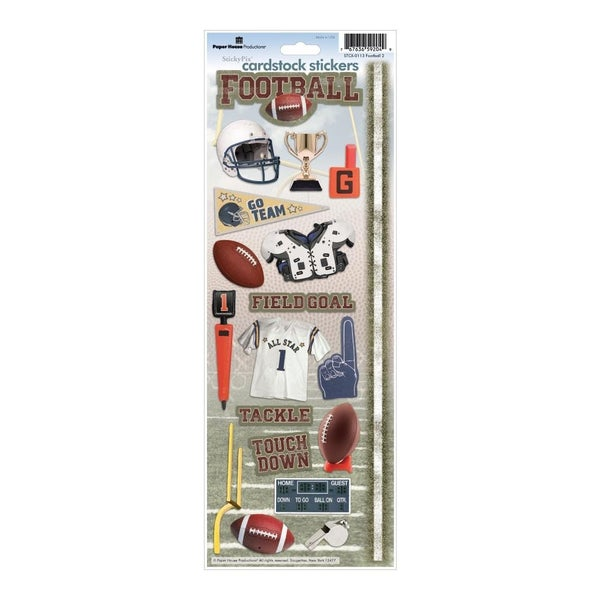 Football Cardstock Stickers