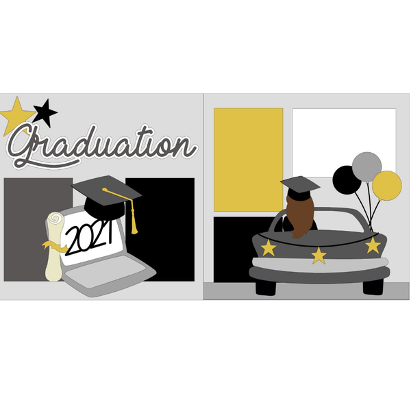 Graduation Girl in Car Kit