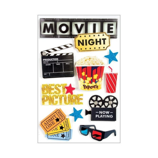 Movie Nite 3D Stickers