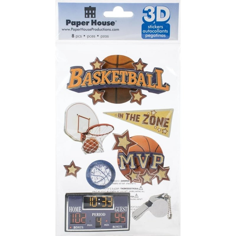 Basketball 3D Stickers