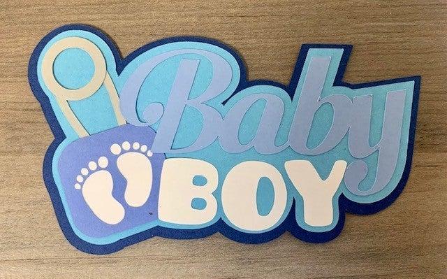 Baby Boy Die Cut Size 3 x 5
