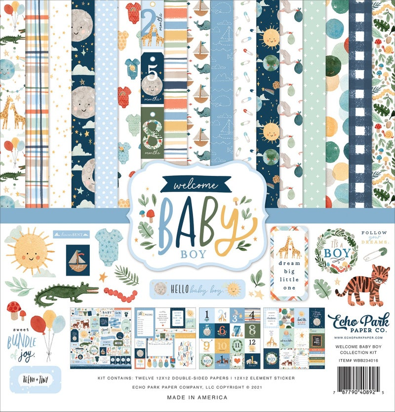 Welcome Baby Boy Paper Pack