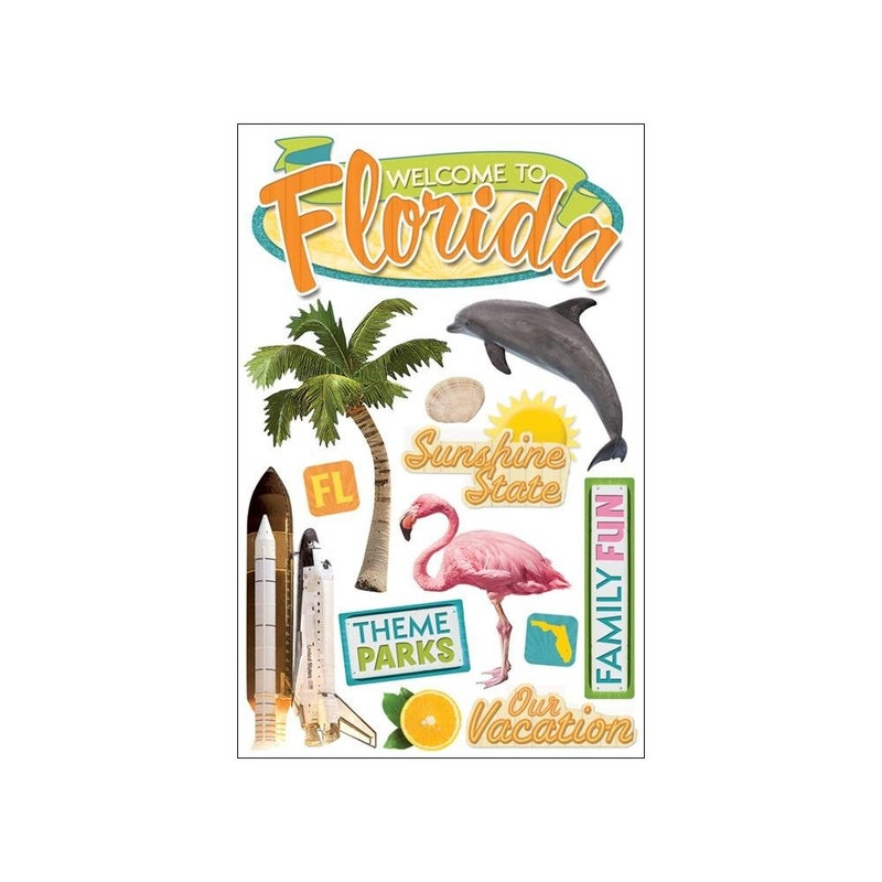 Florida Travel 3D Stickers