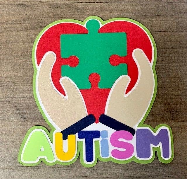 Autism Die Cut Size 4 1/4 x 4 1/2