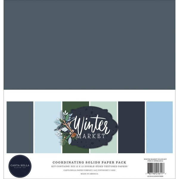 Winter Market Solid Cardstock Set
