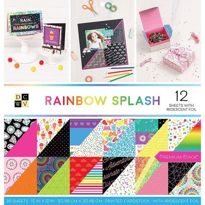 Rainbow Splash Paper Pack